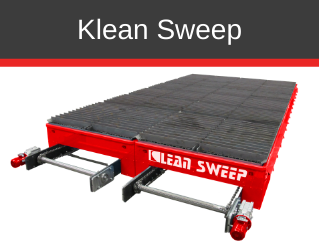 An automatic slag removal table for laser, plasma and oxy-fuel machines, Single automatic slag removal sweeper: From 5-8 ft cutting width, Dual automatic slag removal sweeper: From 10-24 ft cutting width, Slag collection options available