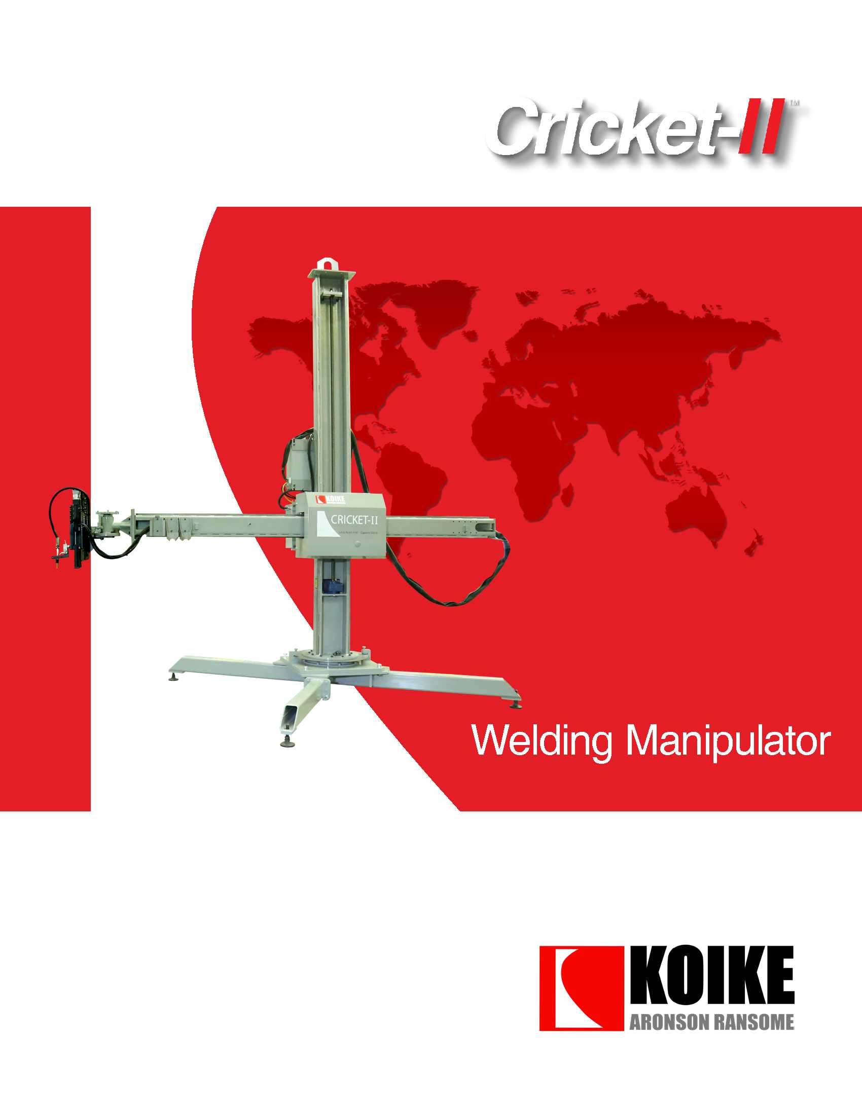 Download Cricket-II Welding Manipulator Literature here