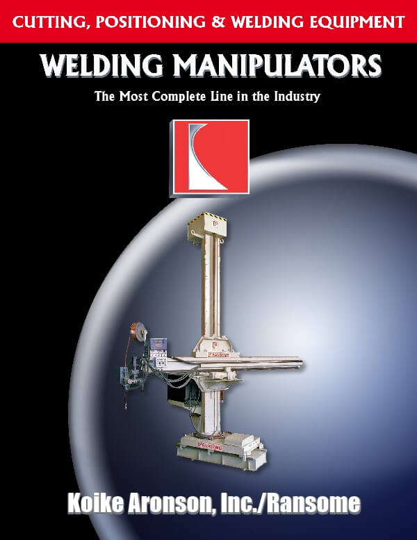 Welding Manipulators Catalog by Koike Aronson