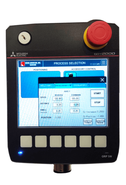 Digital speed control for welding manipulators manufactured by Koike Aronson
