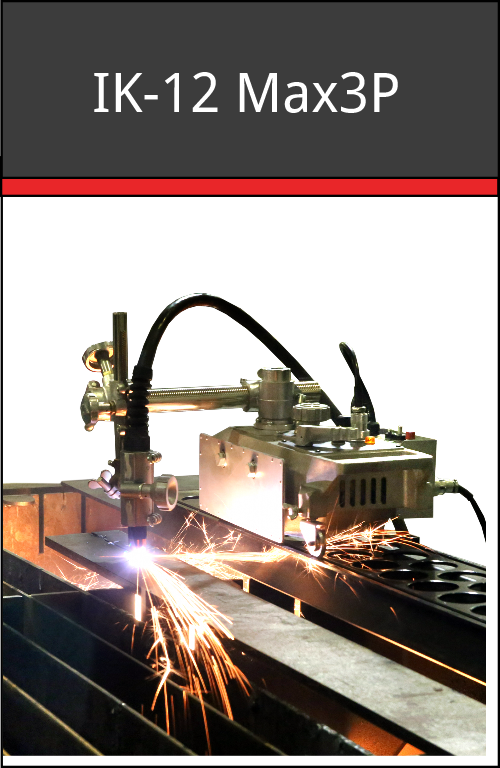 IK-12 Max3P - plasma portable track-guided cutting machine