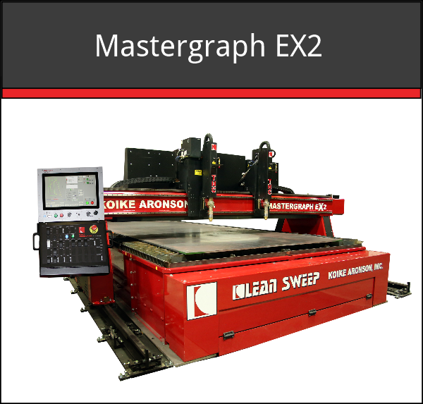 effective cutting length: 250 ft (expandable), Effective cutting width: Up to  168 in, Plasma and/or Oxy-fuel cutting process, Heavy-duty cutting machine, Marking capabilities, Beveling capabilities, Cuts mild steel, stainless steel & aluminum, Cutting table options available, TrueHole® Ready