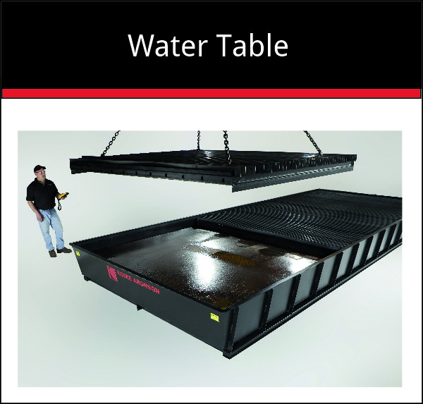 Water table - cutting machine option