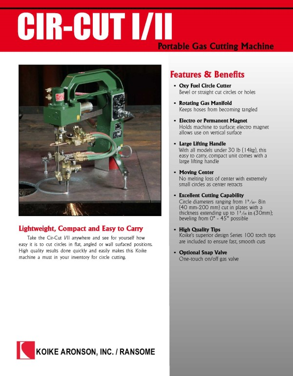 Download Cir-Cut I/II product brochure here
