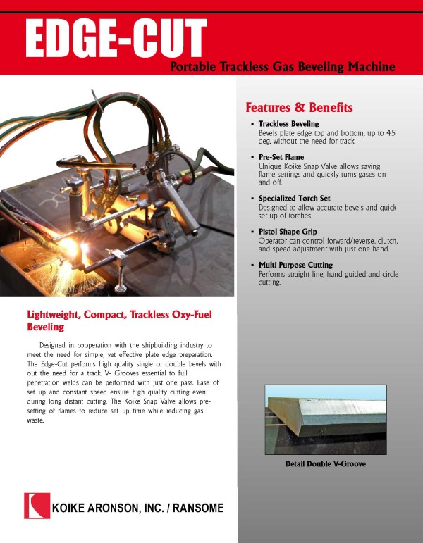 Download Edge Cut Product Brochure