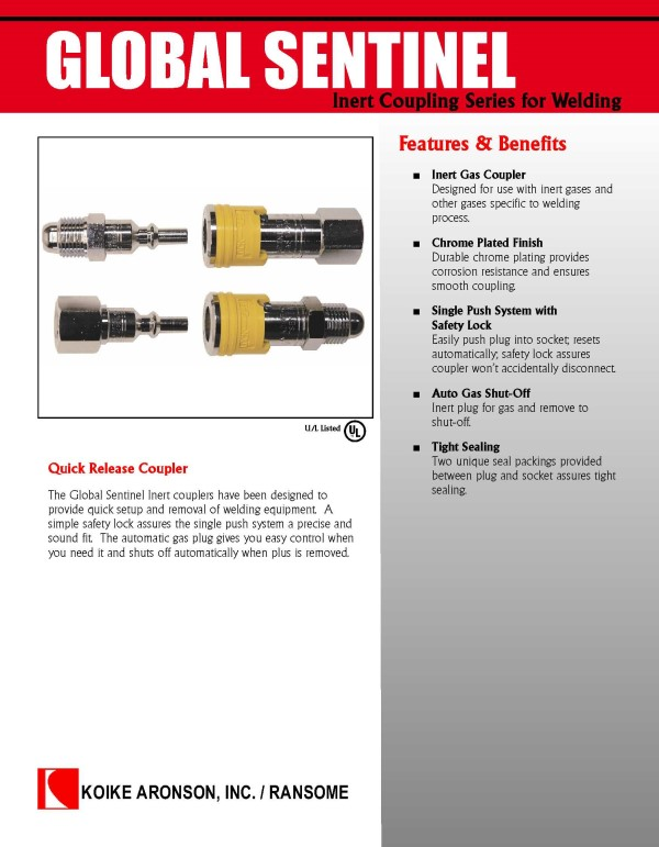 Global Sentinel Inert Couplings Download product brochure