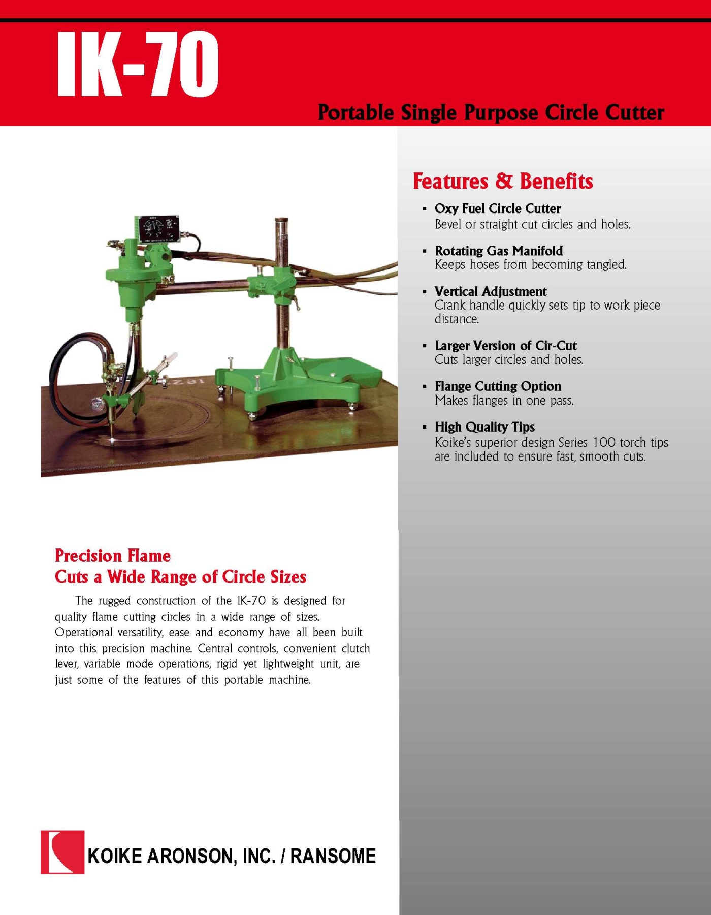 IK-70 Download Product Literature