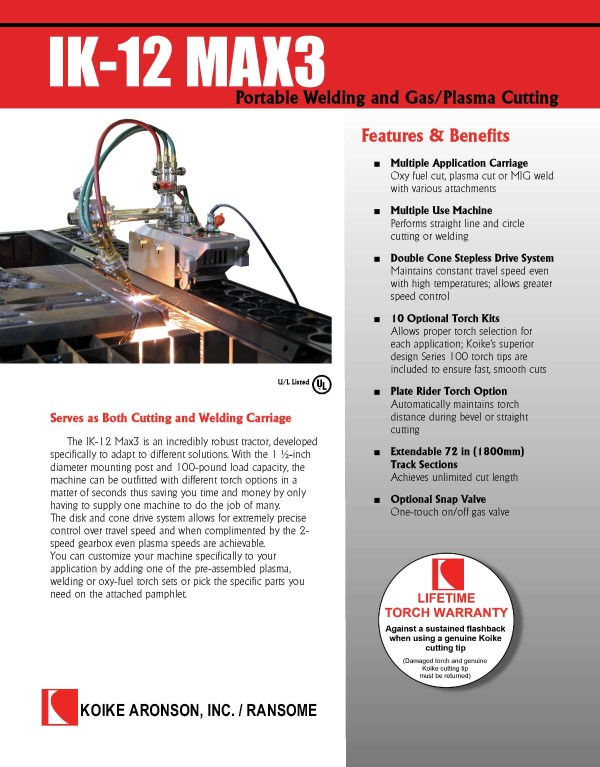 Download the IK-12 Max3 Product Brochure