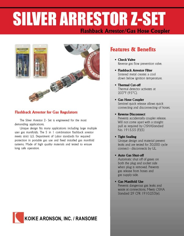 Download Silver Arrestor Z-Set Product Brochure