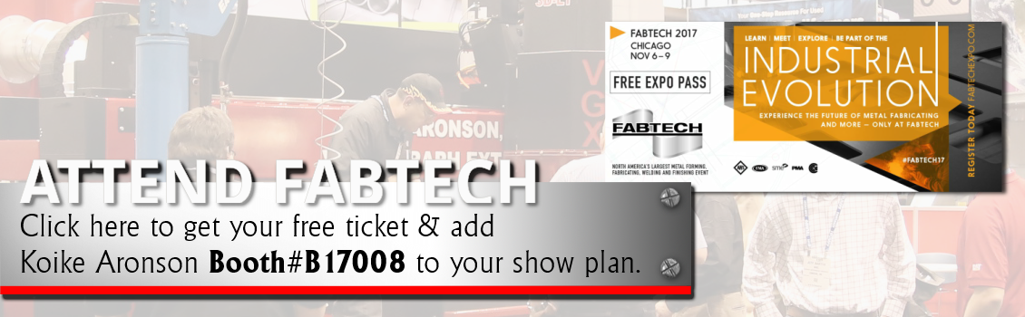 Join us at Fabtech Chicago, IL Booth#B17008