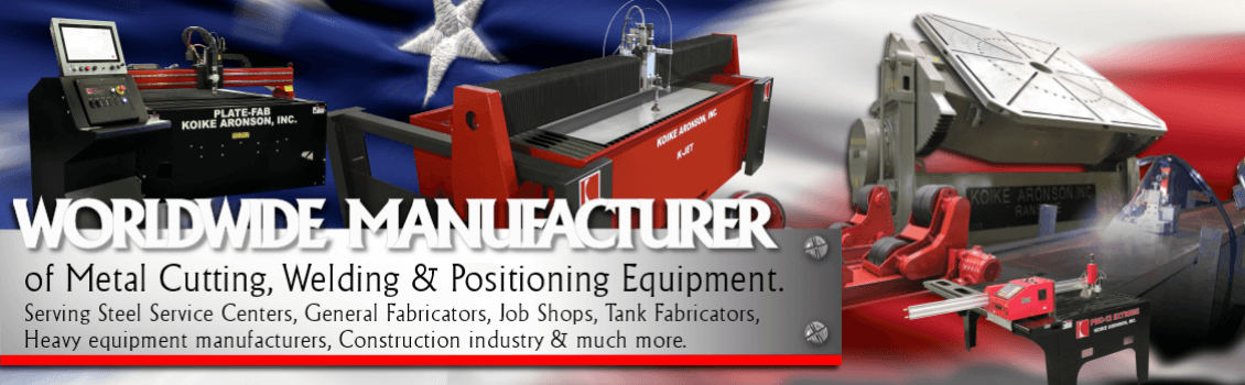 We manufacturer plasma, oxy-fuel, waterjet, and laser cutting machines, welding positioners, and welding systems for a wide variety of welding and cutting applications